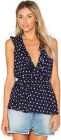 Lovers + Friends x REVOLVE Luna Tank Blouse in Navy. - size L (also in M,S,XS)