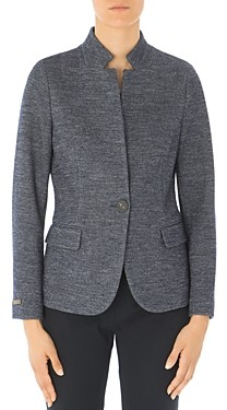 Peserico Notched Stand Collar Single-Button Blazer