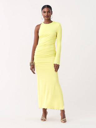 Diane von Furstenberg Kylie Slinky Jersey One-Shoulder Gown