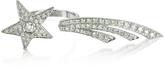 Bernard Delettrez Two Fingers Shooting Star 9K White Gold Ring w/Diamonds