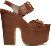 Stella McCartney Brown Platform Buckles Sandals