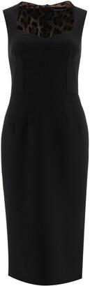 Dolce & Gabbana MIDI PENCIL DRESS 38 Black Wool