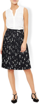 Monsoon Bethany Pleat Print Skirt