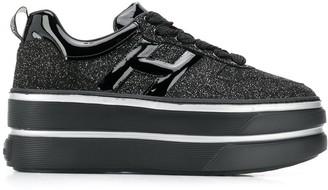 Hogan Glitter Platform Sneakers