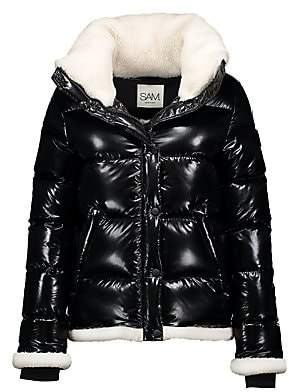 SAM. Women's Willa Shearling-Trimmed Down Puffer Jacket