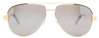 Cartier Santos De Aviator Metal Sunglasses - Gold