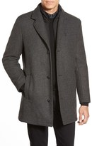 Vince Camuto Men's Car Coat With Removable Bib