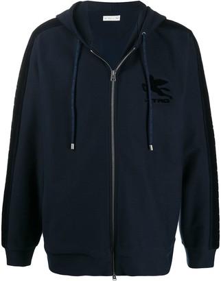 Etro Pegaso patch cotton hoodie