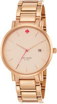 Kate Spade Women's Gramercy Grand Rose Gold-Tone Stainless Steel Bracelet Watch 38mm 1YRU0641