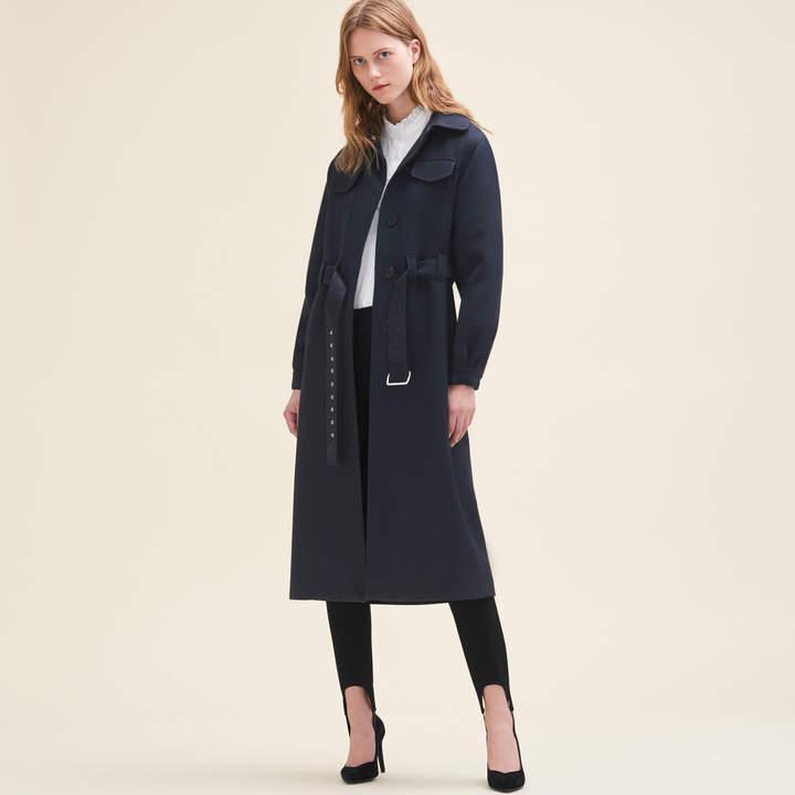 Maje Long wool coat