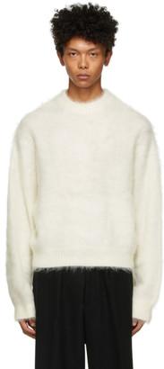 Fumito Ganryu Off-White Dolman Sleeve Sweater