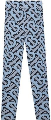 Burberry TB monogram print leggings