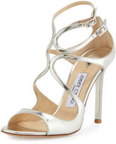 Jimmy Choo 100mm Lang Mirror Leather Sa