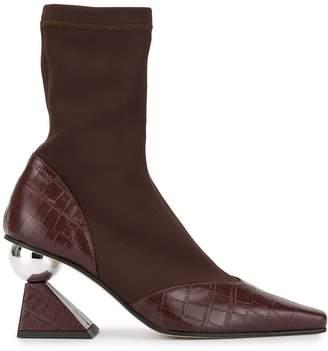 YUUL YIE geometric heel sock boots