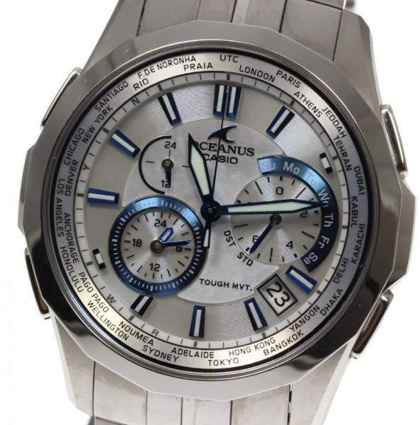 Casio Oceanus OCW-S1400PW Titanium Quartz 41mm Mens Watch