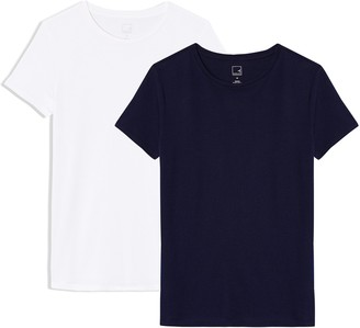Meraki Women's Crew Neck T-Shirt 2 Pack