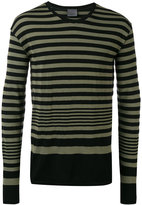 Laneus striped sweatshirt - men - Cotton/Polyamide - M