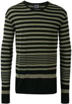 Laneus striped sweatshirt - men - Cotton/Polyamide - XS