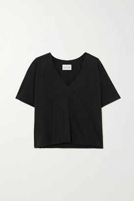 LOULOU STUDIO Faaa Supima Cotton-jersey T-shirt - Black