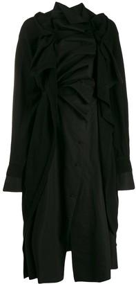 aganovich Ruffled Shirt Dress