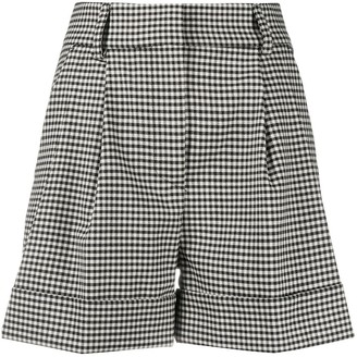 P.A.R.O.S.H. Lester gingham patterned shorts