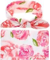 Genda 2Archer Receiving Blankets, Newborn Baby Sleep Blanket Bag with Headband Set