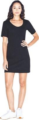 American Apparel Women's Fine Jersey Short Sleeve T-Shirt Dress