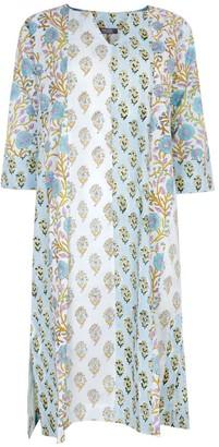 Nologo Chic Zen Midi Dress Cotton - Aqua Blue
