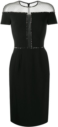 Jenny Packham Dora mesh insert tailored dress