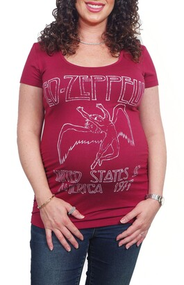 Vip Mama Led Zeppelin Maternity Graphic Tee