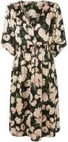 Biba Rose Printed V Neck Midi Dress