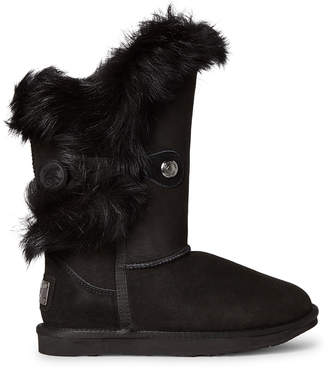Australia Luxe Collective Black Noric Tuscany Shearling-Lined Suede Boots