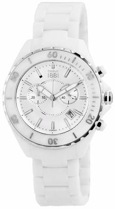 Cerruti Mens Analogue Quartz Watch with Ceramic Strap CRA077Z251H