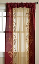 Danbury Regal Home 54-Inch by 84-Inch Embroidered Window Panel, Burgundy