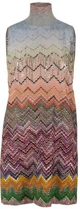 Missoni Turtleneck Beaded Zig Zag Dress