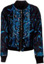 Versus Floral Zebra Print Bomber Jacket