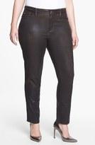 NYDJ 'Sheri' Coated Stretch Jeans (Beat Leather) (Plus Size)