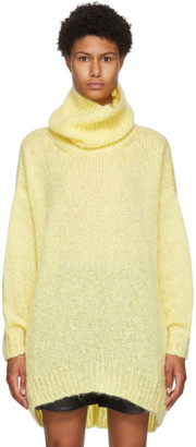 Isabel Marant Yellow Mohair and Wool Eva Turtleneck