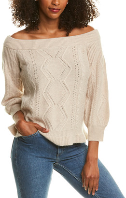 Magaschoni Off-The-Shoulder Cashmere Sweater