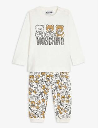 Moschino Bear cotton long sleeve T-shirt and jogging bottoms set 3 - 36 months
