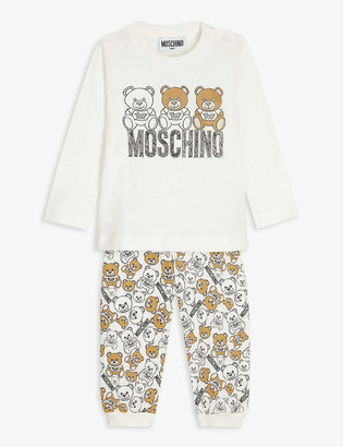 Moschino Bear long-sleeved cotton T-shirt and jogging bottoms set 3-36 months
