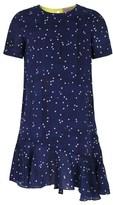 Mini Preen Navy Drop Waist Dot Dress