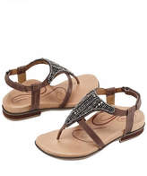 Aetrex Beaded Leather Sandal