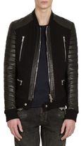 Balmain Leather Zipper Jacket
