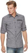 Rock & Republic Men's Core Stretch Slub Button-Down Shirt