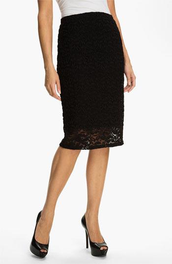 Bobeau Lace Midi Skirt