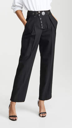 Alexander Wang Wide Leg Snap Placket Trousers