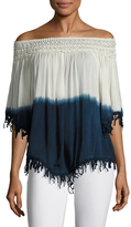 Fringed Trim Off Shoulder top