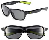 Nike Women's 59Mm 'Premier 6.0' Performance Sunglasses - Black/ Volt