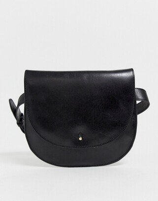 Urban Code Urbancode real leather belt bag-Black